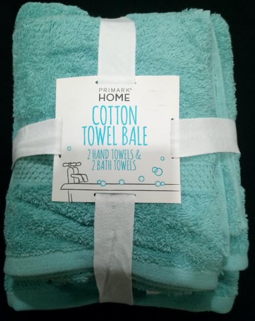 Teal Cotton Towel Bale – 2 Hand Towels, 2 Bath Towels