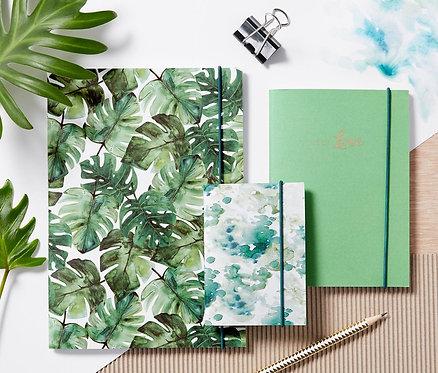 Notebooks Set of 3, Green
