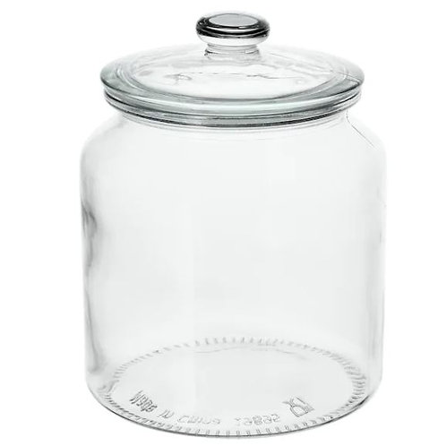 VARDAGEN Jar with Lid, Clear Glass, 1.9 l -IKEA