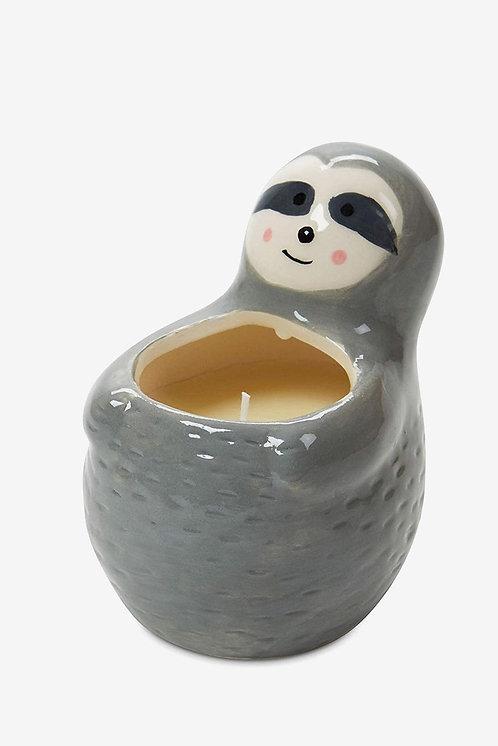 Fresh Lavender Sloth Ceramic Candle, Grey by Tri-Coastal Design