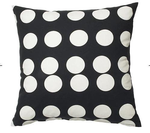 KLARASTINA Cushion Cover, Black, White, 50x50 cm - IKEA