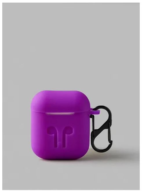 Protective Silicone Case Cover For Apple AirPods 2, Purple by Noon East