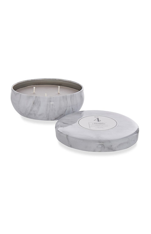 Sea Salt & Lavender Large 3-Wick Candle In Marble Tin