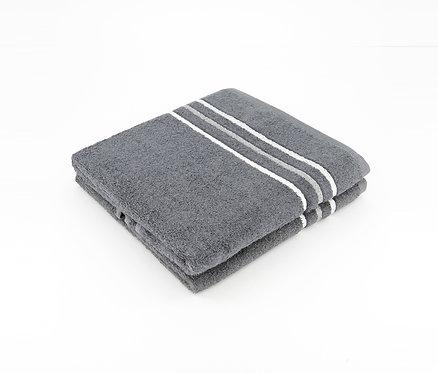 Terry 2-Piece Bath Towels, Grey by Dekor