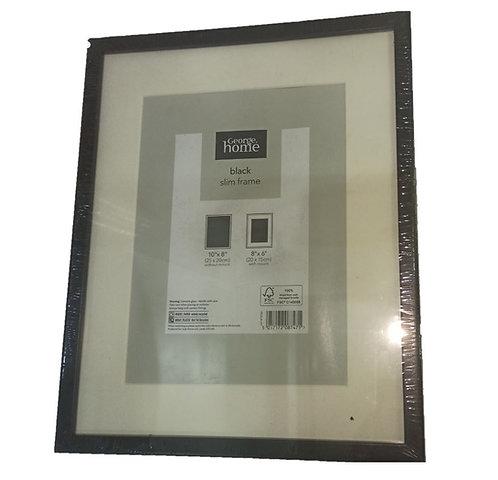Black Slim Photo Frame 10″x 8″ Inch – George Home