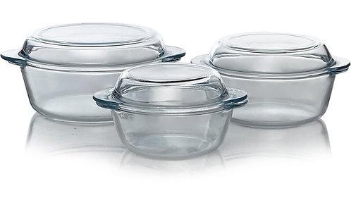 3 Piece Glass Casserole Dish Set – George Home