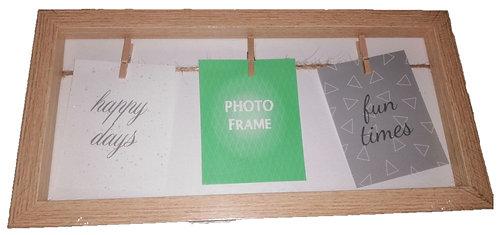 Peg Wooden Photo Frame, Homewares