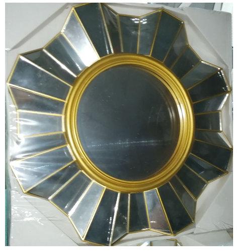 Decorative Sunburst Gold Mirror, 38cm
