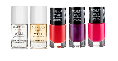 Make Up Gallery 5-pieces Nail Set – 2 Well Polished and 3 Time to Shine
