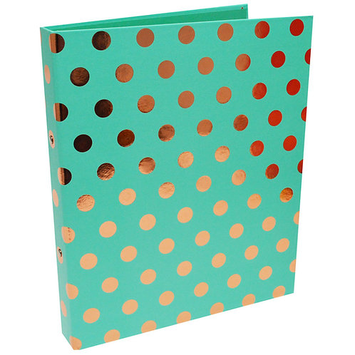 A4 Green and Gold Ring Binder, Paper Place