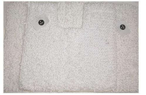 Bath and Pedestal Mat Set, Off White – Homewares