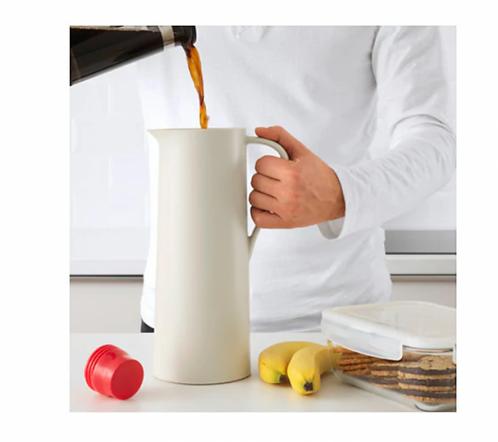 BEHÖVD Vacuum Flask, Biege, Red – IKEA