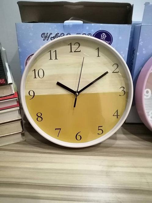 Modern Wall Clock 26cm, Cream