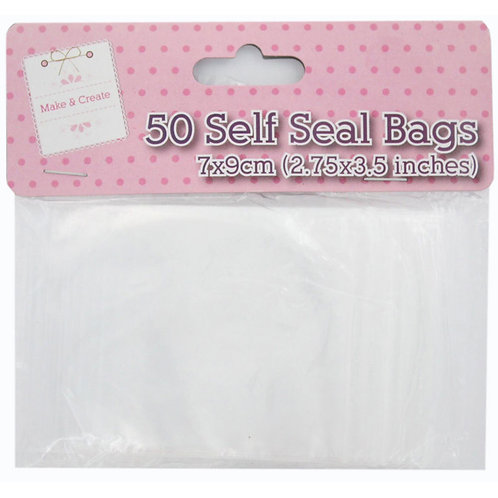 50 Self Seal Bags, 7 x 9 cm