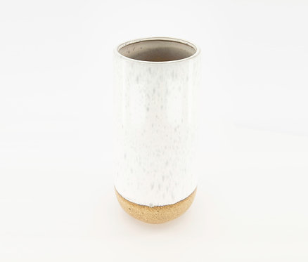 Speckled Vase, Ivory/Brown Combo, 34 cm by Home Essentials