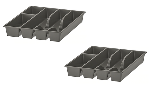 Cutlery Tray 2-Piece, Grey – IKEA
