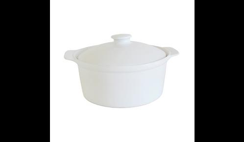 2.5L Ceramic Casserole Dish – White