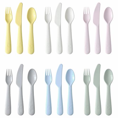 KALAS 18-piece cutlery set, mixed colours by IKEA