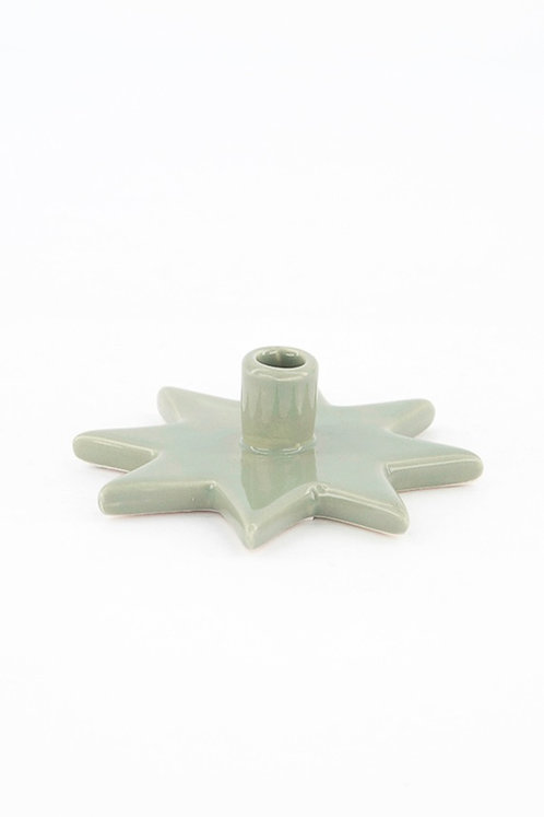 Star Candle Holder, Green by KJCollection