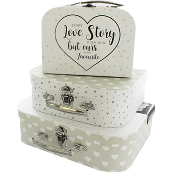 Love Story Storage Suitcase – Set Of 3
