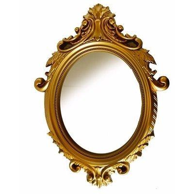 Vintage Gold Oval Large Mirror
