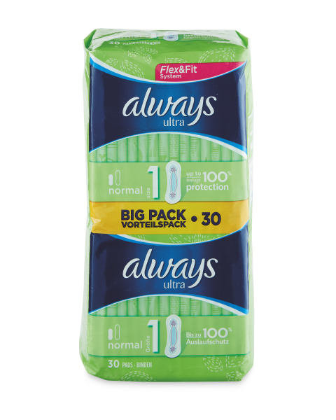 Ultra Normal Towels/ Pads Duo, 30-Piece – Always