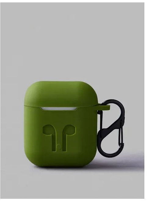 Protective Silicone Case Cover For Apple AirPods 2, Army Green by Noon East