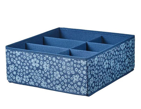 STORSTABBE Box with compartments, blue, 37 x 40x 15 cm – IKEA