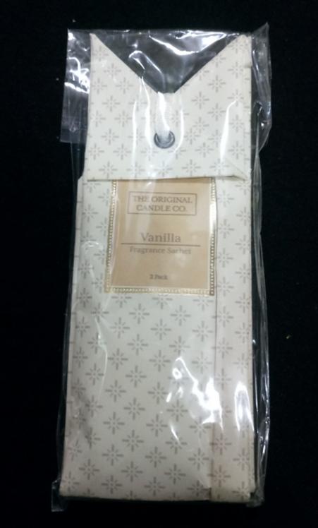 Vanilla (2-Pack) Scented Wardrobe Sachet, TOCC