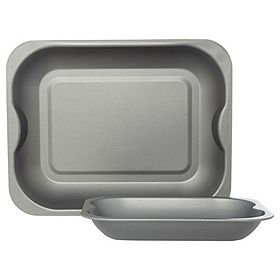2-Pack Non-Stick Grey Roasters, George Home