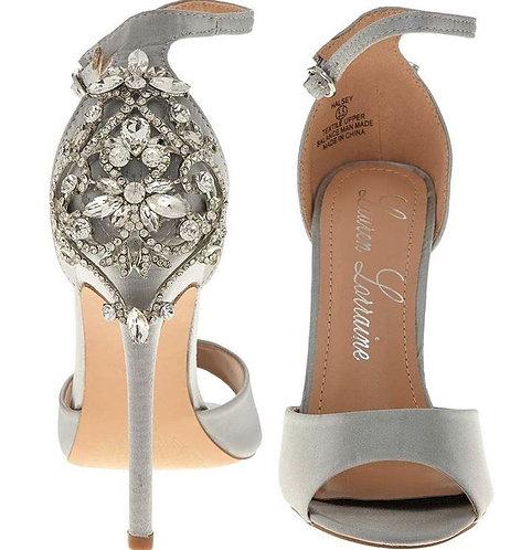 Halsey Crystal Embellished Ankle Buckle Heeled Sandal Size UK 7, Lauren Lorrain