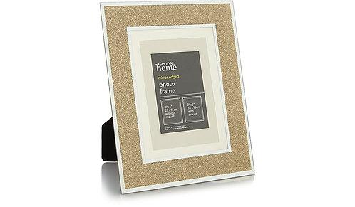 Gold Glitter Glass Frame
