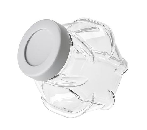 FÖRVAR Jar with Lid, Glass, 1.8 l