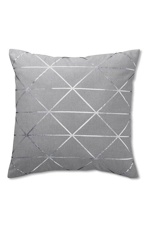 Decorative Cushion Cover 50 x 50 cm, Grey by Tchibo