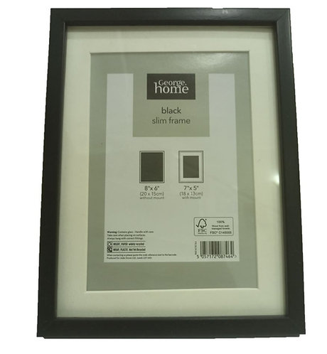 Black Slim Photo Frame 8″x 6″ Inch – George Home