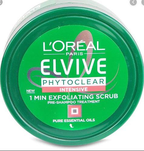 L'Oreal Elvive Phytoclear Anti-Dandruff Exfoliating Scrub 150m