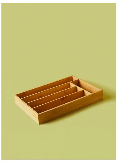 Bamboo Cutlery Tray by Noon East
