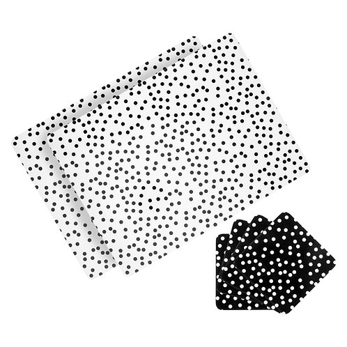 Spotty Placemat and Coaster set – Set of 6