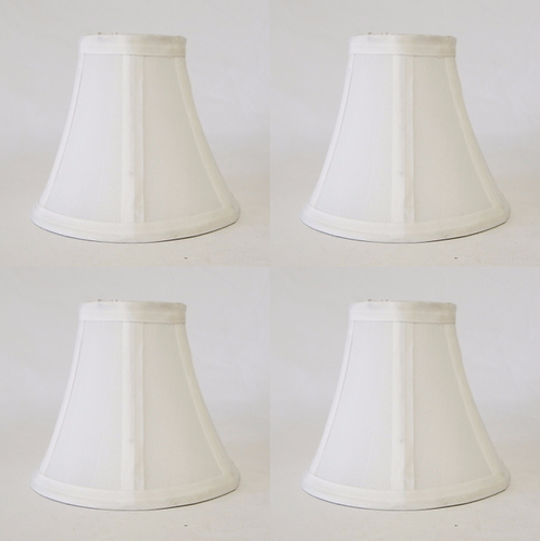Cream Mini Bell Lampshade 5″H Clip On Style, Set of 4 – Mestar Decor