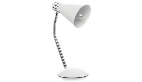 White Finish Desk Lamp