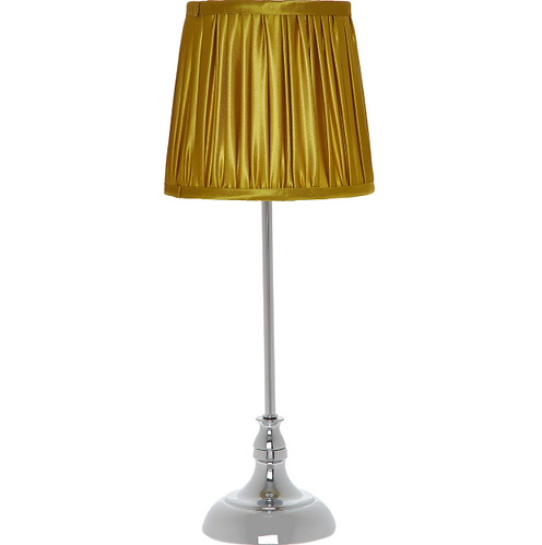 Gold Pleated Table Lamp, 45 x 18 cm
