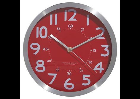 Red Metallic Clock, George Home