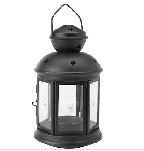 ROTERA Lantern for Tealight, Black In/Outdoor Black, 21 cm - Ikea