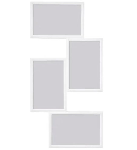 YLLEVAD Collage frame for 4 photos, white, 21x41 cm -
