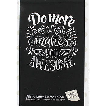 What Makes You Awesome Sticky Notes Memo Folder