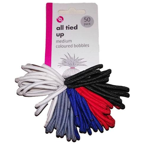 50-pack Medium Coloured Bobbles – Hair Accessories