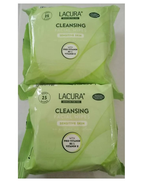 Cleansing Facial Wipes 2-Pack, Sensitive Skin – Lacura