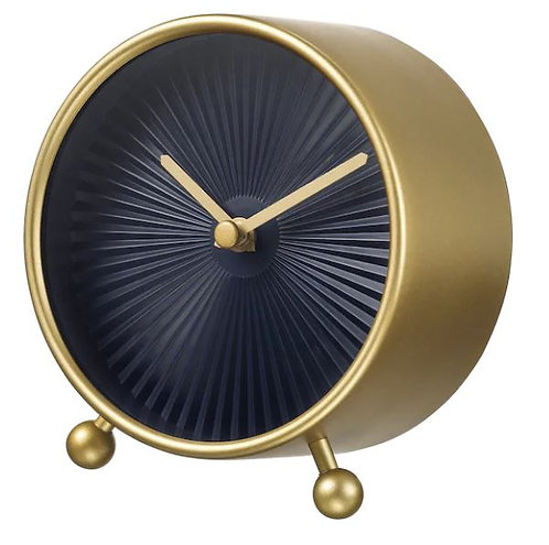 SNOFSA Table clock, brass-colour, 11 cm