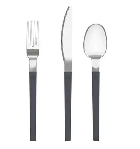 OSTRON 12-piece Grey Cutlery Set – IKEA