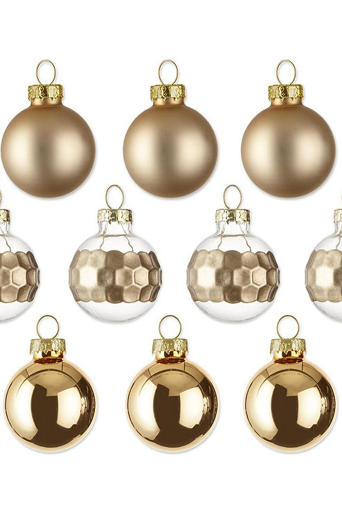 Mini Decoration Balls, Gold